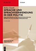 Sprache und Sprachverwendung in der Politik