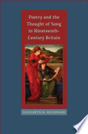 Poetry and the Thought of Song in Nineteenth-Century Britain