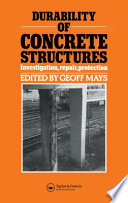 Durability Of Concrete Structures Book PDF