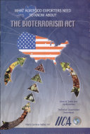 La ley contra el bioterrorismo