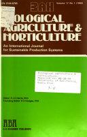 Biological Agriculture   Horticulture
