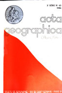 Acta geographica