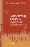Light Scattering in Solids IX