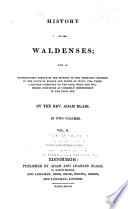 History of the Waldenses