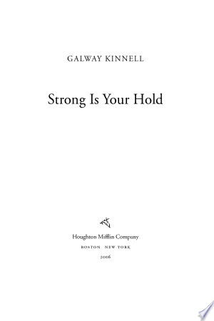 Download Strong Is Your Hold online Books - godinez books