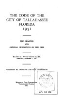 The Code of the City of Tallahassee  Florida  1951 Book