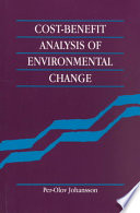 Cost Benefit Analysis Of Environmental Change