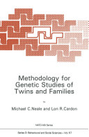 Pdf Methodology for Genetic Studies of Twins and Families
