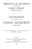 Catalogue Of The Books In The Leading Department