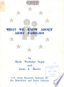 What We Know about Army Families