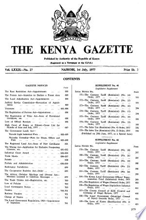 Kenya+Gazette