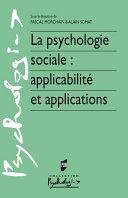 Pdf La psychologie sociale : applicabilité et applications