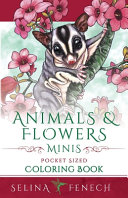 Animals and Flowers Minis   Pocket Sized Coloring Book