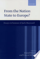 From The Nation State To Europe