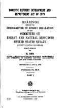 Domestic refinery development and improvement act of 1979