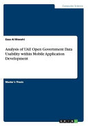 Analysis of Uae Open Government Data Usability Within Mobile Application Development