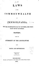 Laws of the Commonwealth of Pennsylvania: Dec. 21, 1812-Mar. 25, 1817