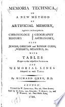 Memoria Technica  Or  A New Method of Artificial Memory  Book PDF