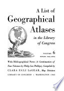 A List of Geographical Atlases in the Library of Congress
