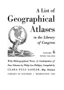 Pdf A List of Geographical Atlases in the Library of Congress