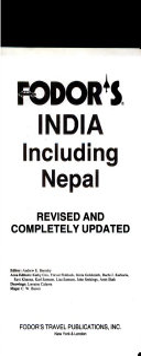 Fodor s India Including Nepal