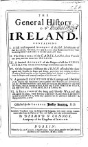 The General History of Ireland ... Collected by ... J. K. ... Translated from the Original Irish ... with ... Amendments by D. O'Connor ... Illustrated with ... Coats of Arms, Etc. (The Genealogy of the Posterity of H. Fionn, ... The Posterity of Ir, Etc.).