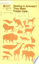 Dealing in Animals  They Need Proper Care Book PDF