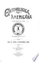 Entomologica Americana Book