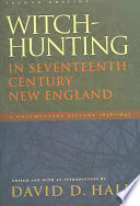 Witch Hunting in Seventeenth Century New England Book