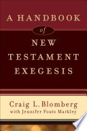 A Handbook Of New Testament Exegesis Book