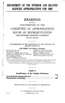 Department of the Interior and Related Agencies Appropriations for 2003  Justification     United States Forest Service  Department of Energy