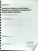 Analytical Solutions and Computer Programs for Hydraulic Interaction of Stream-aquifer Systems