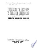 Parkinson s Disease   Related Disorders  Cumulative Bibliography  1800 1970  Author index Book