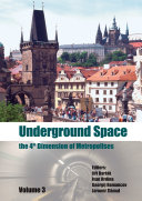 Underground Space   The 4th Dimension of Metropolises  Three Volume Set  CD ROM