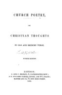 Church Poetry     Fourth edition   Compiled by Anne Mozley