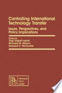 Controlling International Technology Transfer