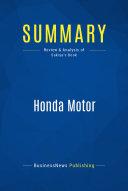 Summary  Honda Motor