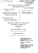 California  Court of Appeal  5th Appellate District   Records and Briefs