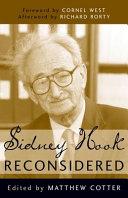Sidney Hook Reconsidered