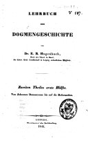 Lehrbuch der Dogmengeschichte