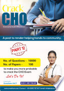 Cho Community Health Officer Part 12 100 Paper Sets 10000 Questions Answers