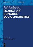 Pdf Manual of Romance Sociolinguistics Telecharger