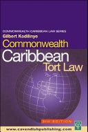 Pdf Commonwealth Caribbean Tort Law