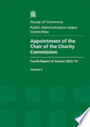 Appointment Of The Chair Of The Charity Commission