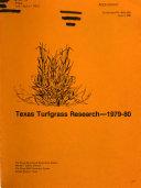 Texas Turfgrass Research, 1979-80