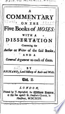 A Commentary on the Five Books of Moses