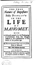 The True Nature of Imposture Fully Display d in the Life of Mahomet     The Fifth Edition Corrected