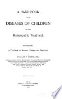 A Hand book on the Diseases of Children and Their Homeopathic Treatment Book PDF