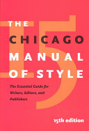 Cover of The Chicago Manual of Style