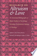 Research On Altruism Love Book PDF